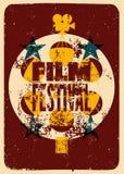 Film festival poster. Retro typographical grunge vector illustration. Film festival poster. Retro typographical vector illustration Stock Photos