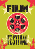 Film festival poster. Retro typographical grunge vector illustration. Film festival poster. Retro typographical vector illustration Stock Image