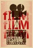Film festival poster. Retro typographical grunge vector illustration. Film festival poster. Retro typographical vector illustration Stock Images