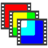Film film frame slide overlay RGB colors. Film frame shot overlay RGB colors, vector rgb logo Royalty Free Stock Images
