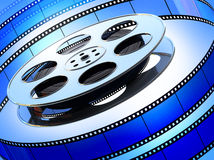Film and film reel Royalty Free Stock Photos