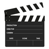 Film flap. Clasic film flap in black and white color Royalty Free Stock Image