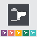 Film flat icon. Vector illustration Royalty Free Stock Image