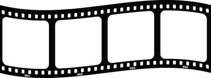 Film frame. Empty film frame illustration over white background Royalty Free Stock Photo