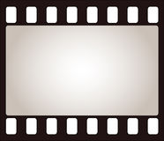 Film frame. Illustration, empty blank Stock Image