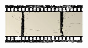 Film frame. Grunge textured film frame with space for your text or image Stock Photos