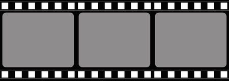 Film frame. Computer designed film frame background with space for your text or image Royalty Free Stock Images