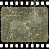Film frame. Illustration of old scratched film as a backdrop Royalty Free Stock Photos
