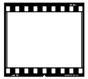 Film frame. Illustration isolated on white Stock Photography