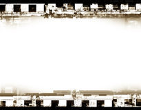 Film frame. Computer designed highly detailed grunge film frame with space for your text or image. Great grunge element for your projects Stock Images