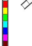 Film frame. Film strip frame in multi color Royalty Free Stock Photos