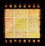 Film frame. 35 mm Film roll for background,2D computer art Stock Images