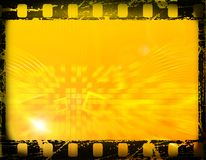 Film frame. Film strip, with grunge effects, blurred background Royalty Free Stock Photography