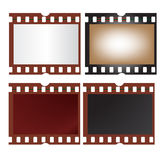 Film Frame. Raster illustration of four film frame isolated on white Stock Photos