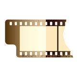 Film frame. Vector illustration of a film frame. Detailed portrayal Royalty Free Stock Photo
