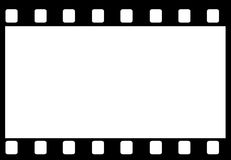 Film frame. Blank white background in black film frame Stock Image
