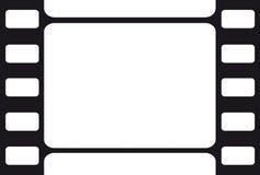 Film frame. Blank white background in black film frame Royalty Free Stock Image