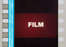 Film Frame Close Up Royalty Free Stock Photo