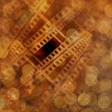 Film frame. On a grunge vintage background Royalty Free Stock Photos