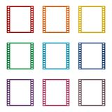 Film Frame icons set Stock Images