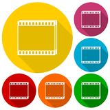 Film Frame icons set. Vector icon Stock Photos