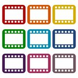 Film Frame icons set. Vector icon Royalty Free Stock Photo