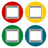 Film Frame icons set Stock Photography
