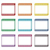 Film Frame icons set. Vector icon Stock Images