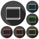 Film Frame icons set. Vector icon Royalty Free Stock Images