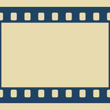 Film frame. Illustration of the film frame as a seamless element for pattern, brushes etc Royalty Free Stock Photo
