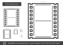 Film frame line icon. Royalty Free Stock Images