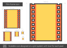 Film frame line icon. Royalty Free Stock Photo