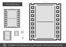 Film frame line icon. Royalty Free Stock Image