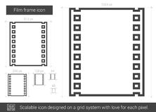 Film frame line icon. Royalty Free Stock Photography