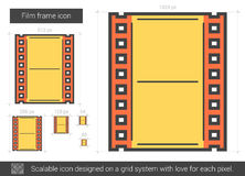 Film frame line icon. Royalty Free Stock Photos