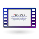 Film frame 35mm. Cinema concept. Vector illustration Royalty Free Stock Photos