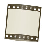 Film frame shadowed. Cute film frame shadowed and isolated in white background Stock Photography