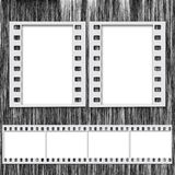 Film Frame and Strip. Blank Film Frame and Film Strip Royalty Free Stock Photos