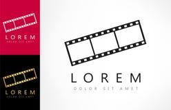 Film frame vector logo. Logo design vector illustration Royalty Free Stock Images