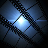Film frame. Vintage background with film frame Stock Photos
