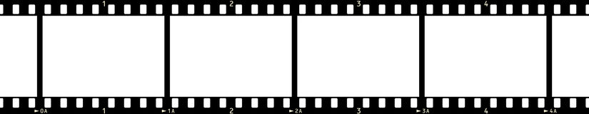 Film Frame (x4_2). 35 mm Photographic Film Strip (4 Frames, with frame numbers Royalty Free Illustration