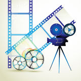 Film frames. With colored circles Stock Photography