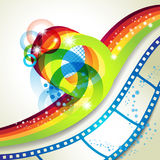 Film frames. Over colorful background Stock Images