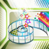 Film frames. With colored stars royalty free illustration