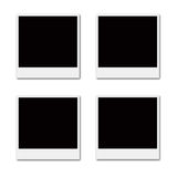 Film Frames. Several instant film frames on an isolated white background Stock Photography
