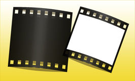 Film frames. Cute film frames in gradient background Stock Photography