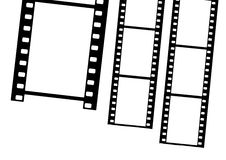 Film frames. Cute film frames isolated in white background royalty free illustration