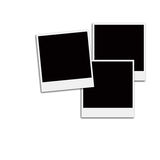 Film Frames. Several instant film frames on an isolated white background Stock Photos