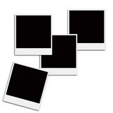Film Frames. Several instant film frames on an isolated white background Stock Image