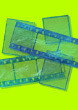 Film frames. Computer generated blue film frames Stock Photo